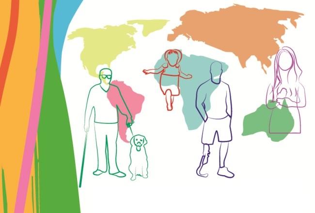 Afiche 1° Seminario Internacional sobre Discapacidad, Salud Mental y Cuidado